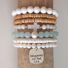 plage de bracelets bracelets de sirène shell par beachcombershop