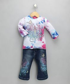 Sparkle Butterfly Top & Jeans - Girls