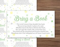 Bring a Book Instead of a Card Mint by littlesprinklestudio