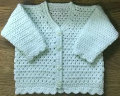 PDF DK Crochet Pattern For Baby/Child V Neck Cardigan Sizes 3 months to 6 years (1008)