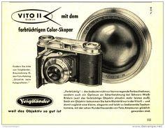 Original-Werbung/Inserat/ Anzeige 1953 - VOIGTLÄNDER VITO II KAMERA - ca. 140 X…
