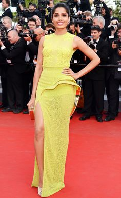 Freida Pinto in Versace @ the Cannes Film Festival 2012.