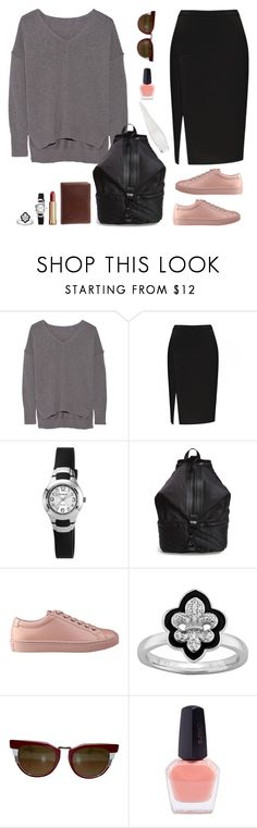 """Wing"" by diabolissimo ❤ liked on Polyvore featuring Line, Armitron, Rebecca Minkoff, GUESS, Stacks and Stones, Fendi and Donna Karan"