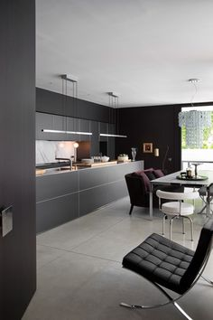 Concrete kitchen kitchen cupboards and kitchens on pinterest for Cuisine haut de gamme