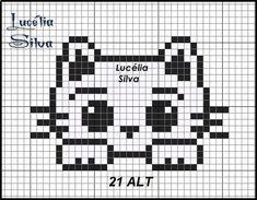 Motiv K Kitten - Breannes Crafting Brand name clothing online deals Brand name clothing is highly re Tiny Cross Stitch, Cat Cross Stitches, Cross Stitch Animals, Cross Stitch Charts, Cross Stitch Designs, Cross Stitching, Cross Stitch Embroidery, Cross Stitch Patterns, Needlepoint Stitches