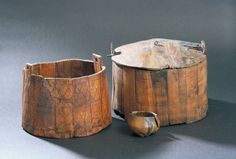 Vikings Eating Utensils | wooden buckets from Oseberg (Kulturhistorisk Museum): Photo