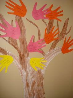 Fall Activity Handprint Tree- very cool idea!