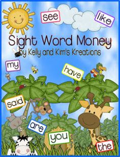 The Primary Pack: Motivating Readers with Sight Word Money (Freebie Included! Sight Word Activities, Writing Activities, Future Classroom, Classroom Ideas, Kindergarten Freebies, Sight Words, Word Work, Literacy Centers, Learn To Read