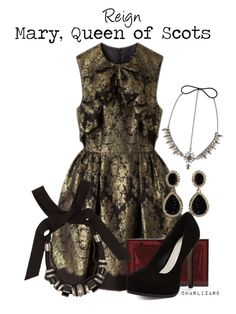 """Mary, Queen of Scots"" by charlizard ❤ liked on Polyvore featuring Karen Walker, Charlotte Olympia, Pour La Victoire, Amrita Singh, Lanvin, BCBGMAXAZRIA, TV, Reign and cwtv"