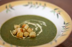 Creamy Spinach Soup 2 T. Olive Oil 1 large onion, chopped 2 carrots ...