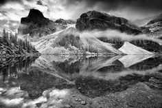Moraine lake symmetry Photo by Trevor Cole — National Geographic Your Shot Amazing Photography, Landscape Photography, Free Photography, Clear Winter, Moraine Lake, Photo Competition, Ansel Adams, Black N White Images, National Geographic Photos