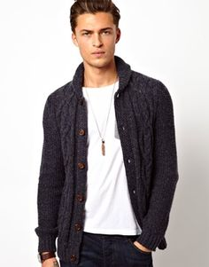 ASOS Cable Cardigan
