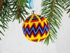 Yellow Christmas ornaments African tribal ornaments Ethnic   Etsy