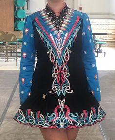 Dazzling Blue Prime Dress Designs Irish Dance Dress Solo Costume For Sale