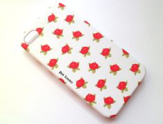 SALE Free Shipping US White Rose Flower Iphone 4 4S Rubberized Hard Case with Front Lip Cover  AT Verizon Sprint. $12.00, via Etsy.