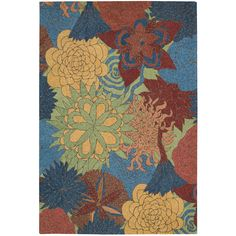 Rug Squared Melbourne Floral Indoor/Outdoor Area Rug (10' x 13') (