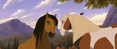 Spirit: Stallion of the Cimarron (2002) - Animation Screencaps Spirit Horse Movie, Spirit The Horse, Spirit And Rain, E Spirit, Arte Equina, Horse Movies, Spirited Art, Horse Art, Disney And Dreamworks