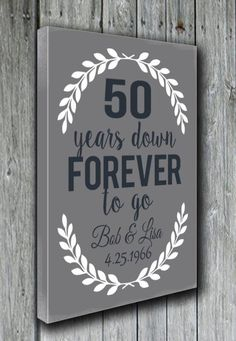 50th Anniversary Gift Grandparents' by doudouswooddesign on Etsy More