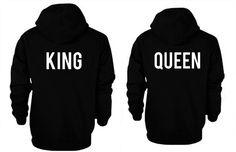 Matching Couple Hoodies King and Queen Couple Sweatshirt Set