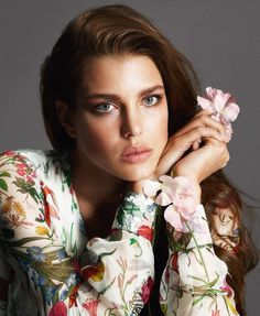 """Charlotte Casiraghi's good genes – she's Monaco royalty and the granddaughter of Grace Kelly – surely had a lot to do with her inclusion in Gucci's """"Forever Now"""" ad campaigns. The """"Forever Now"""" branch of Gucci's business celebrates the brand's rich Charlotte Casiraghi, Grace Kelly, Gucci Tshirt, Estilo Floral, Gucci Campaign, Princesa Carolina, Princess Caroline Of Monaco, Floral Fashion, Belle Photo"""