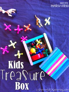 Kids Craft Treasure Box. Must do this my boy is starting to bring home and collect 'treasures' he finds outside haha..