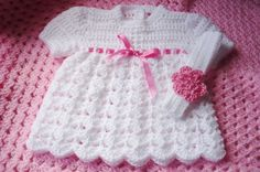 Hey, I found this really awesome Etsy listing at https://www.etsy.com/listing/75622008/crochet-white-newborn-dress-and-hair