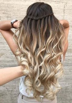 In this post you can see the awesome trends of waterfall braids with amazing ombre and ba,layage hair colors combinations. See here how this combination looks amazing and cute. We assure you that waterfall braids are most gorgeous bradis ever that we have observed. You may use to wear these elegant braids in 2018. #BraidedHairstyles