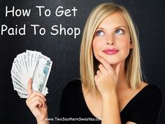 How To Get Paid To Shop and Save Your Money - 3 of the best cash back sites where you can be paid to shop and one that pays you to just have fun online.