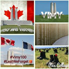 #Vimy100 #VimyRidge #LestWeForget 04/09/2017 O Canada, Lest We Forget, Flag, Country, Movie Posters, Art, Rural Area, Film Poster, Popcorn Posters