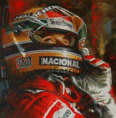 d Art-Ayrton Senna portrait, by The Master Juan Carlos Ferrigno