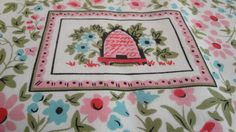 Vintage Beehive Floral Table Cloth