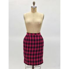 Christian Dior Vintage Checkered Tweed Pencil Skirt (Size 0)