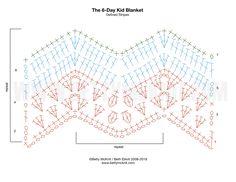 Best 12 Graphs for the Kid Blanket – Betty McKnit – SkillOfKing. Chevrons Au Crochet, Crochet Zig Zag, Crochet Blanket Border, Crochet Ripple, Crochet Bedspread, Crochet Square Patterns, Crochet Stitches Patterns, Crochet Diagram, Crochet Chart