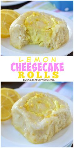 These easy no yeast sweet rolls are filled with lemon cheesecake filling and drizzled with lemon glaze! Perfect breakfast or brunch idea!