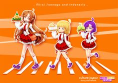 Mirai Suenaga and Indonesia by ~Zeikai on deviantART