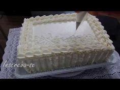 Bolo de Chantilly - Fácil de decorar - YouTube Cake Decorating Tutorials, Cake Tutorial, Macarons, Cheesecake, Make It Yourself, Simple, Food, Live, Youtube