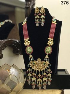 Royal jewellery set in beads kundan very high quality kundan gold polished necklace set heavy earrin Mom Jewelry, Royal Jewelry, India Jewelry, Pendant Jewelry, Jewelry Sets, Beaded Jewelry, Jewelry Design, Gold Pendant, Pearl Jewelry