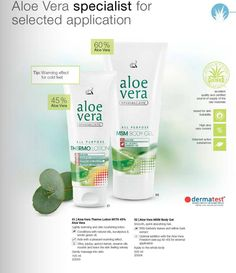 * CARE with the power of ALOE VERA: - Aloe Vera Thermo Lotion - 15,99 EUR - Aloe Vera MSM Body Gel - 25,99 EUR