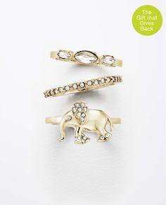 Elephant Ring Set | Ann Taylor