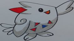 how to draw a easy togekiss