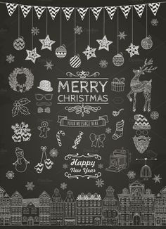 Christmas Doodle Icons by Cosmic Dust on Creative Market