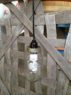 Custom Mason Jar Hanging Pendant Light | eBay