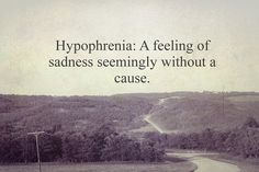 There's a word for it, that makes me feel better