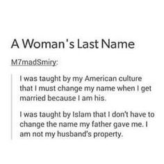 When I Get Married, I Got Married, Change My Name, Islam, Give It To Me, Names, Teaching, Woman, Women