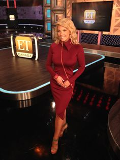 Cheryl Hickey continues to rock it this week in the ET Canada Studio in yet another amazing dress from Madame Moje  madamemoje.com Canada, Cheryl, Fashion Forward, Nice Dresses, Rock, Studio, Amazing, Sexy, Cute