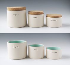 Set of 3 Jars by Paulova Ceramics