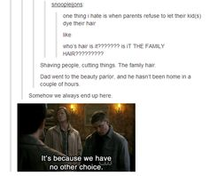 #Supernatural fandom ruins another post [PIC Set] --- you mean improves another post right? (I literally just died laughing)
