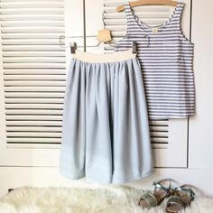 I wished this outfit was mine  #sewing #sewingforgirls #maxiskirt #nostex #graylabel #orangemayonnaise #filouandfriends
