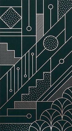 Abstract pattern, art deco logo, art deco print, art deco design, a