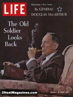 Life Covers 1964 | Life Magazine January 10, 1964 : Cover - General Douglas MacArthur ...